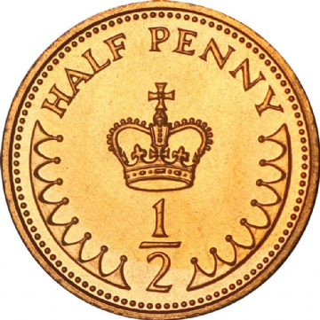 Proof Decimal 1/2 Pence Choice of Year 1971 to 1984